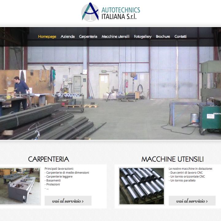 Autotecnics Italiana - Sviluppo Sito Web