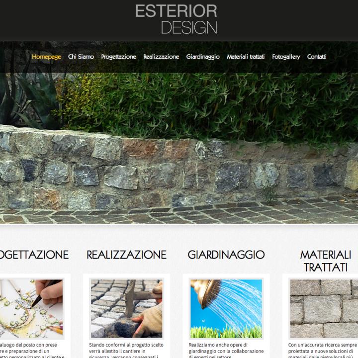 Esterior Design - Sviluppo Sito