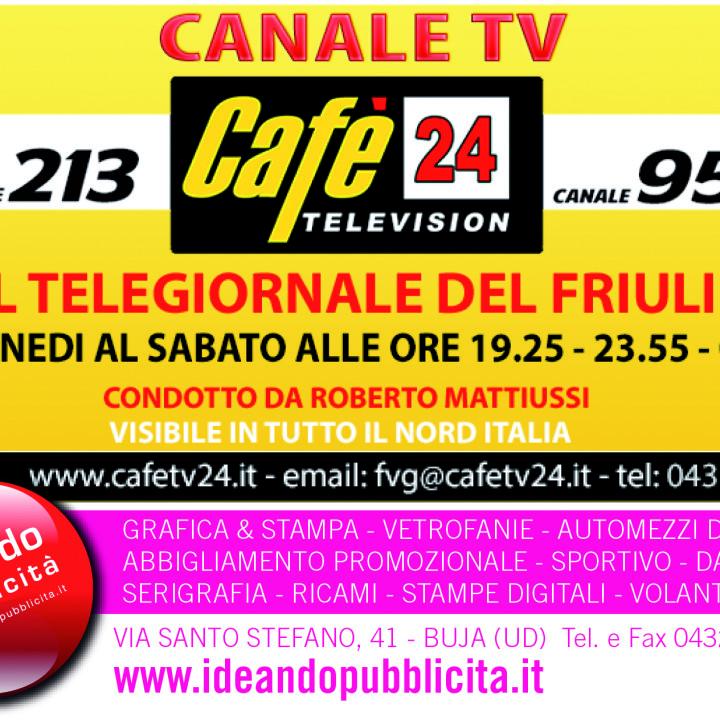 IDEANDO PUBBLICITA' - volantino CANALE TV CAFE' 24 TELEVISION