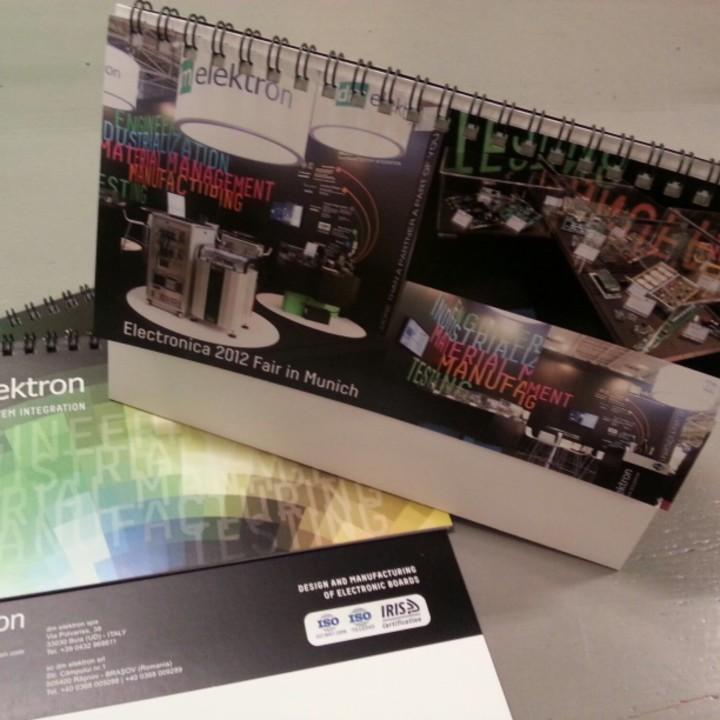 Progettazione grafica e stampa Calendario da tavolo 2014 - DM ELEKTRON