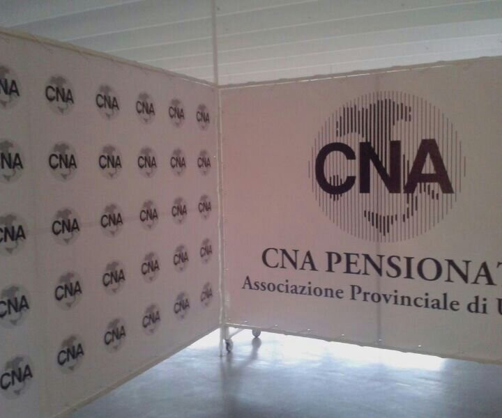 Gigantografia, stampa su banner Cna di Udine