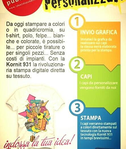 Magliette con stampa diretta