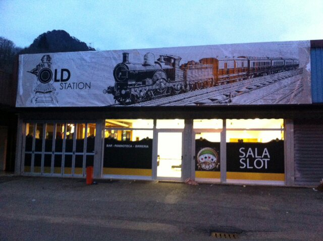 Banner grande formato Old Station Resiutta
