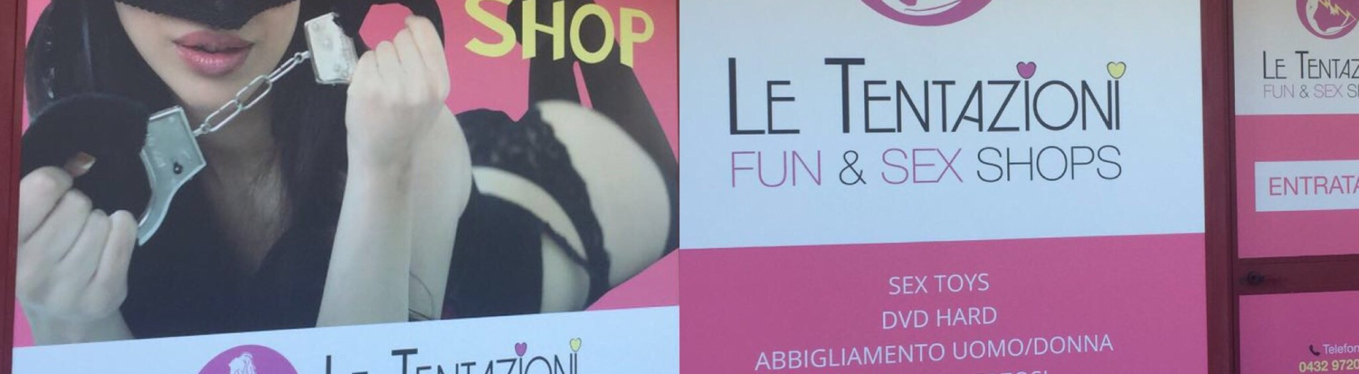 VETROFANIE SEXY SHOP LE TENTAZIONI A GEMONA DEL FRIULI